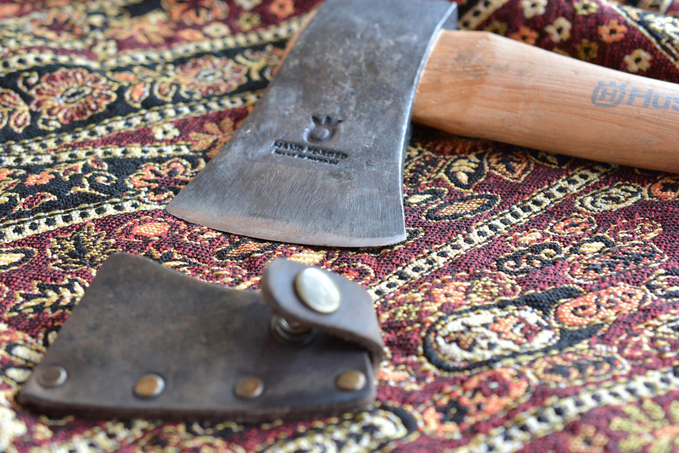 ハスクバーナ手斧(38cm) 純正カバー(アックスヘッド)