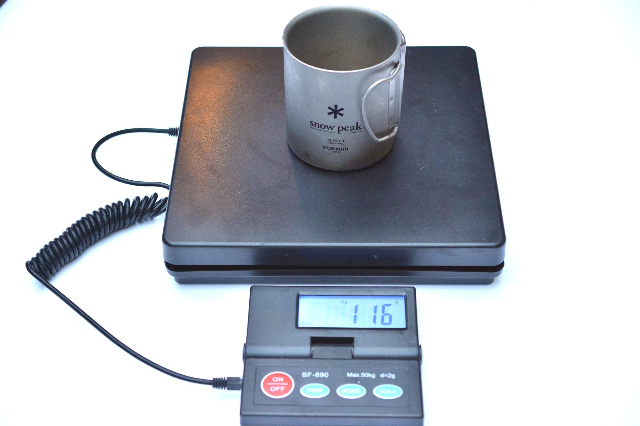 チタンダブルマグ450 重量