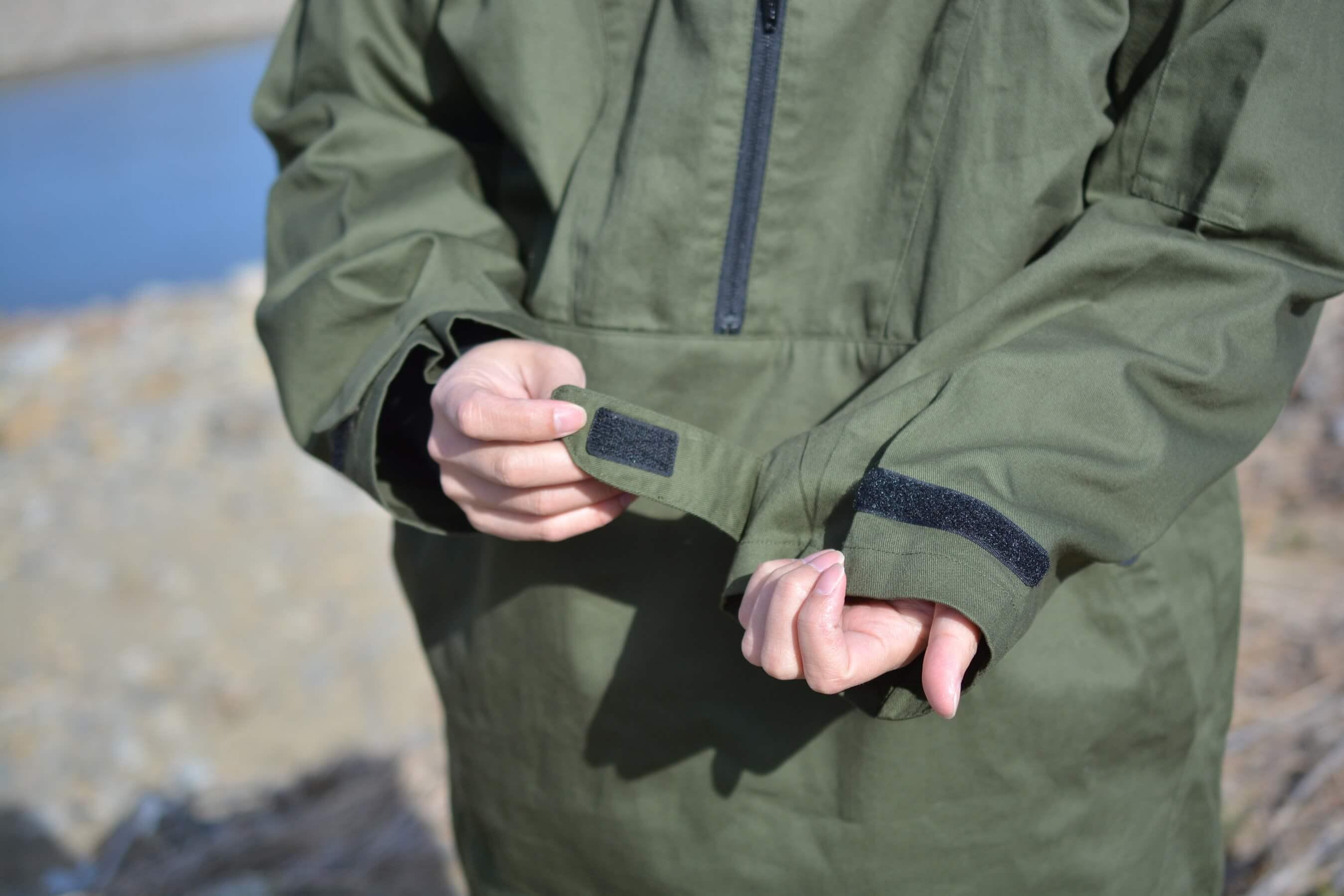 綿アノラックパーカー[S020A]  袖口(カフ)