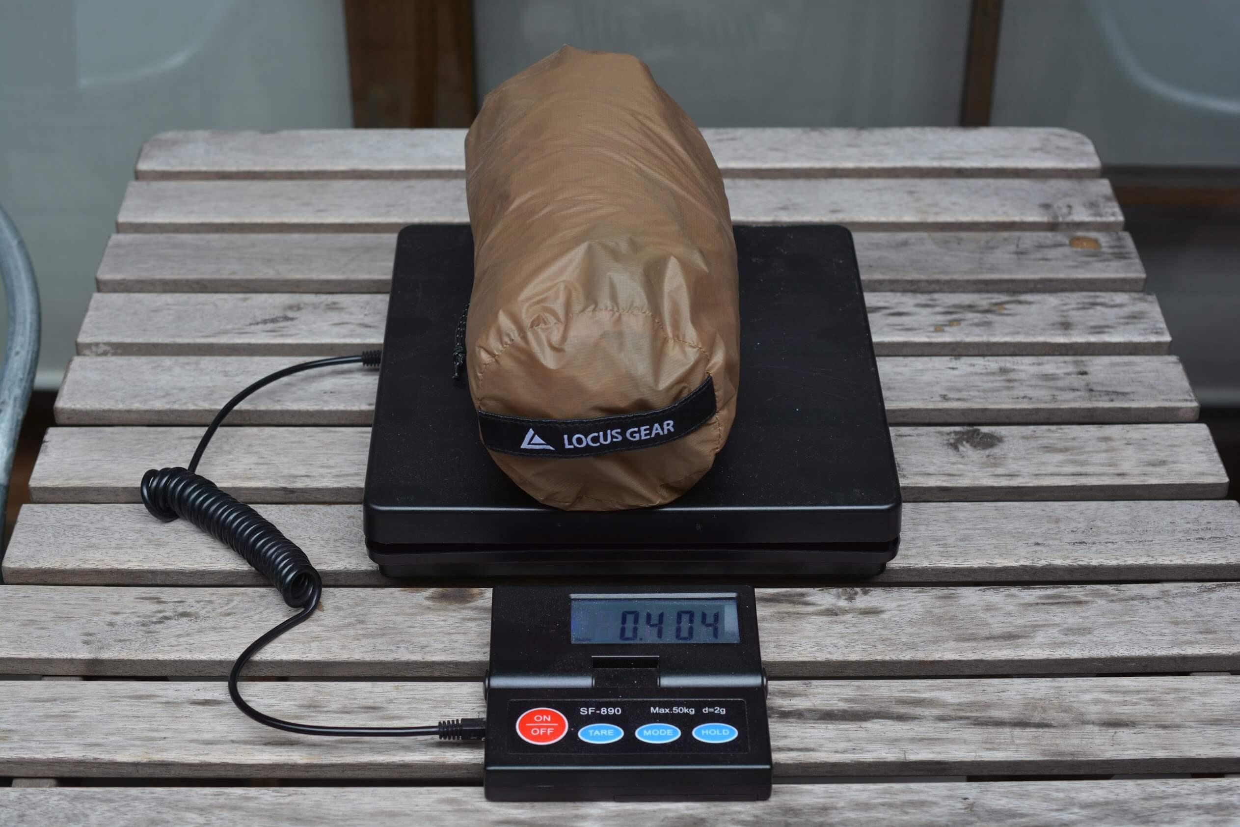 LocusGear Khufu HB / ローカスギア クフHB シェルター本体 重量