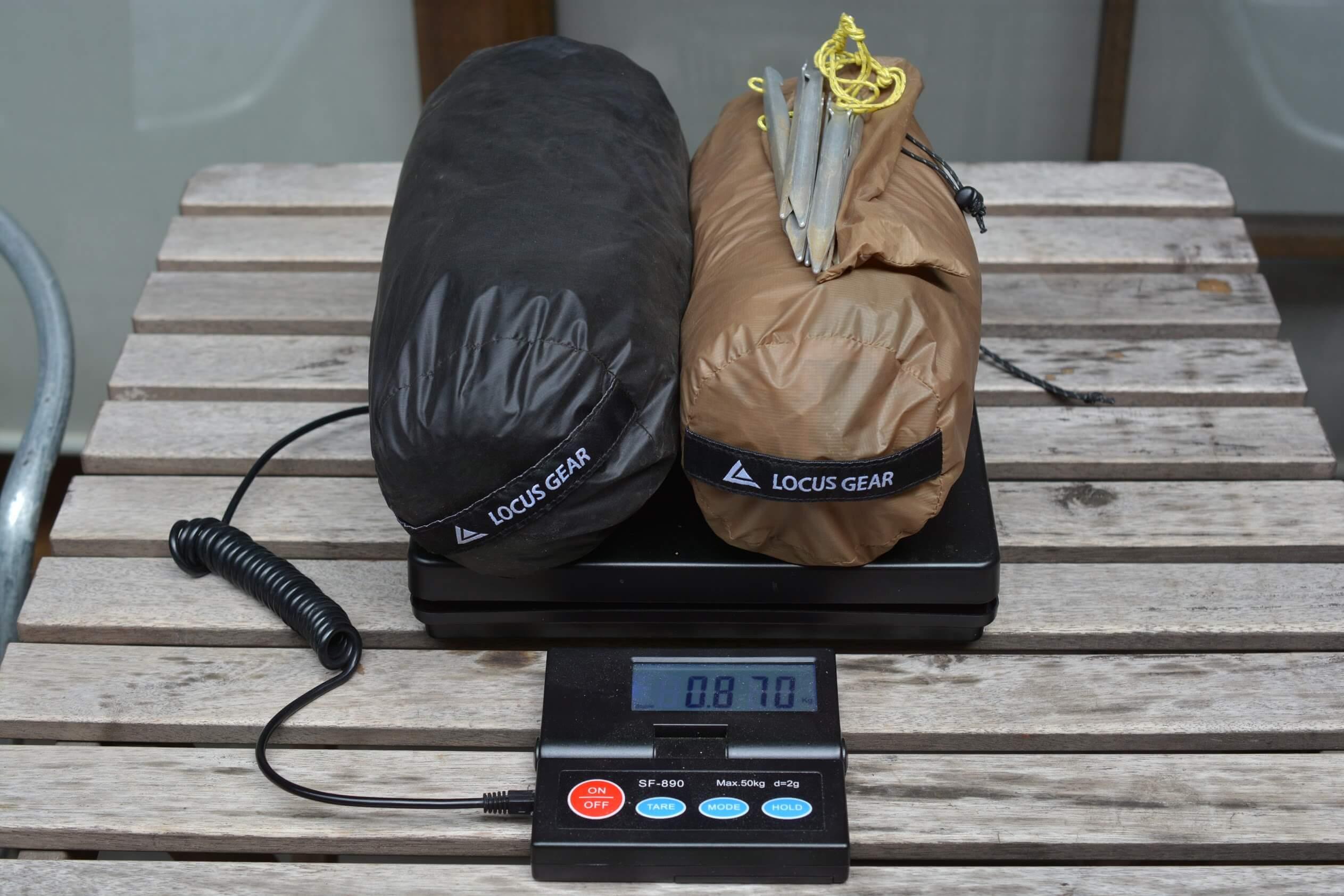 LocusGear Khufu HB / ローカスギア クフ HB トータル重量