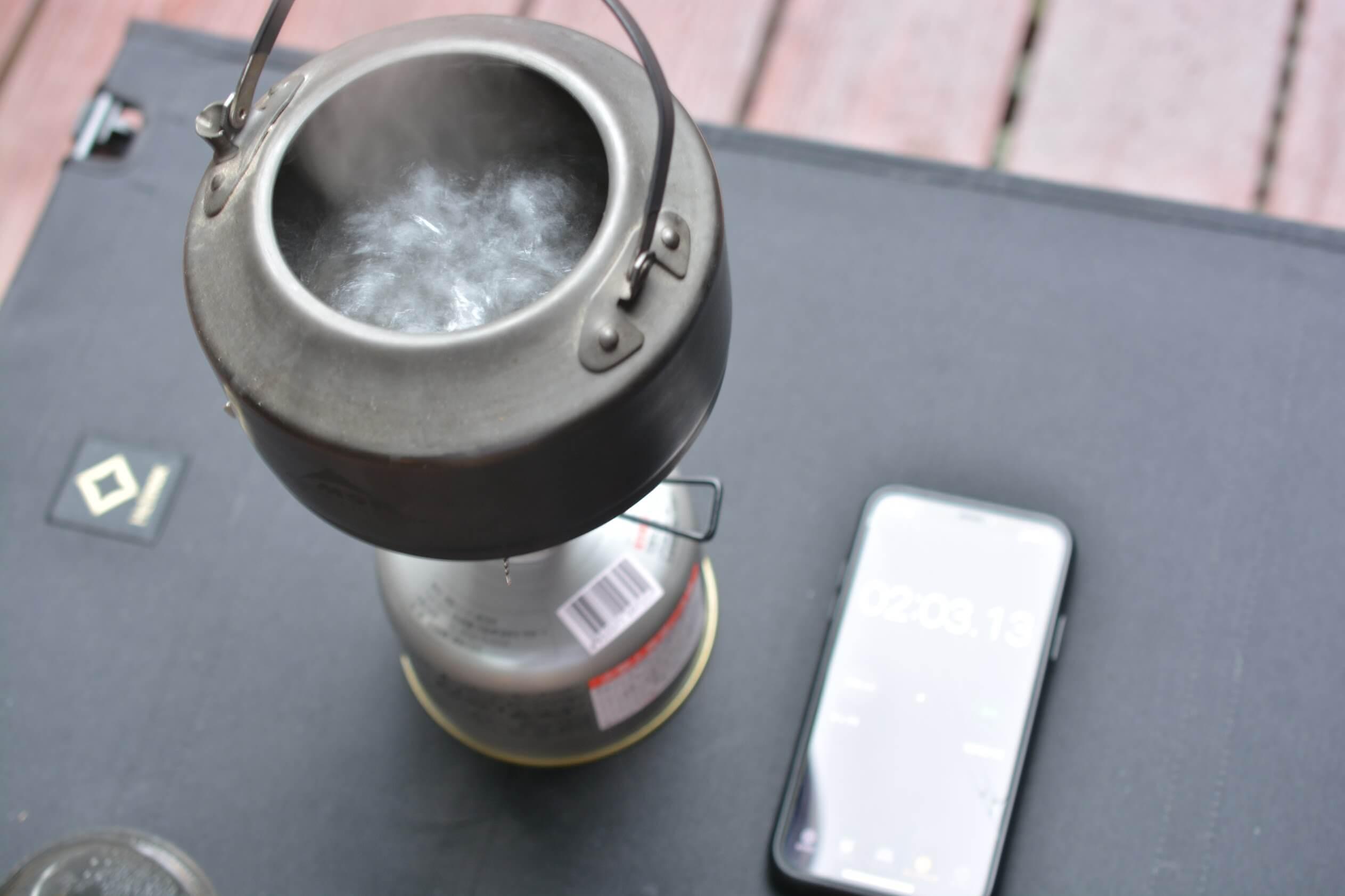 SOTO ウィンドマスター[SOD-310]  湯沸かし実験