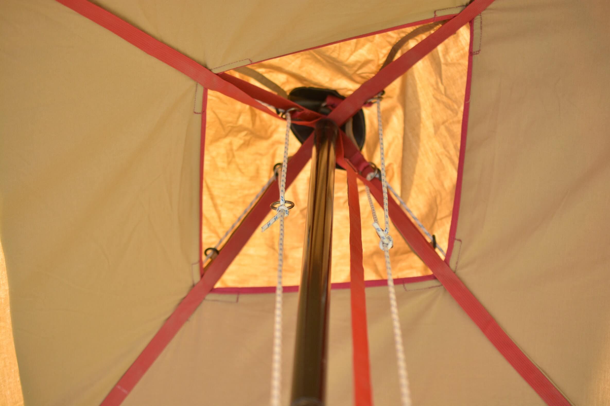 テンマクデザイン 青空タープTC ガイロープを垂らす