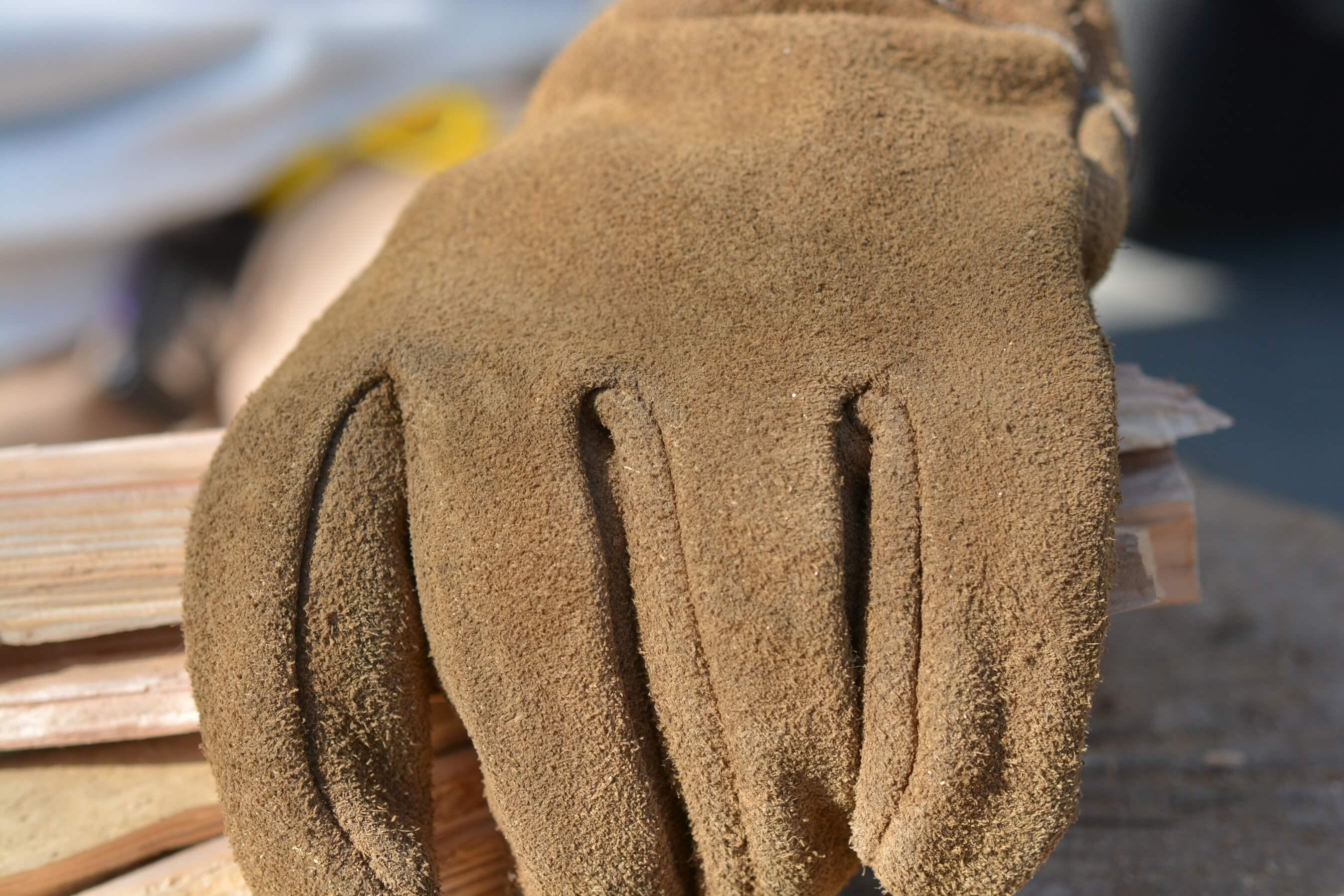 ワークマン ワークグローブ[WG-800](レザーグローブ)牛 床革