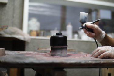 黒色無双でキャンプ用品を塗ってみた!OD缶とデザインナイフ。