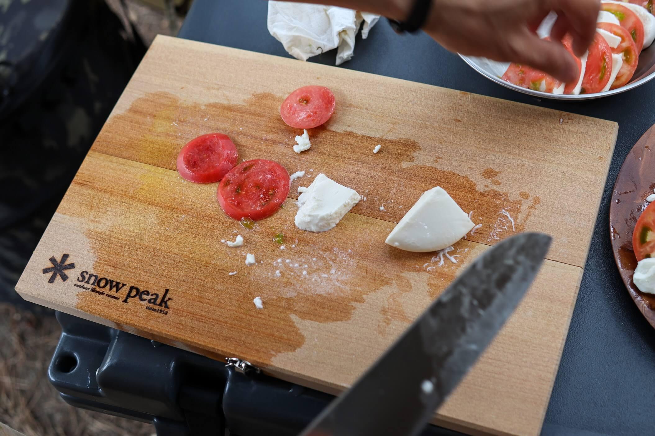 snowpeak マナイタセットL トマト モッツアレラチーズ