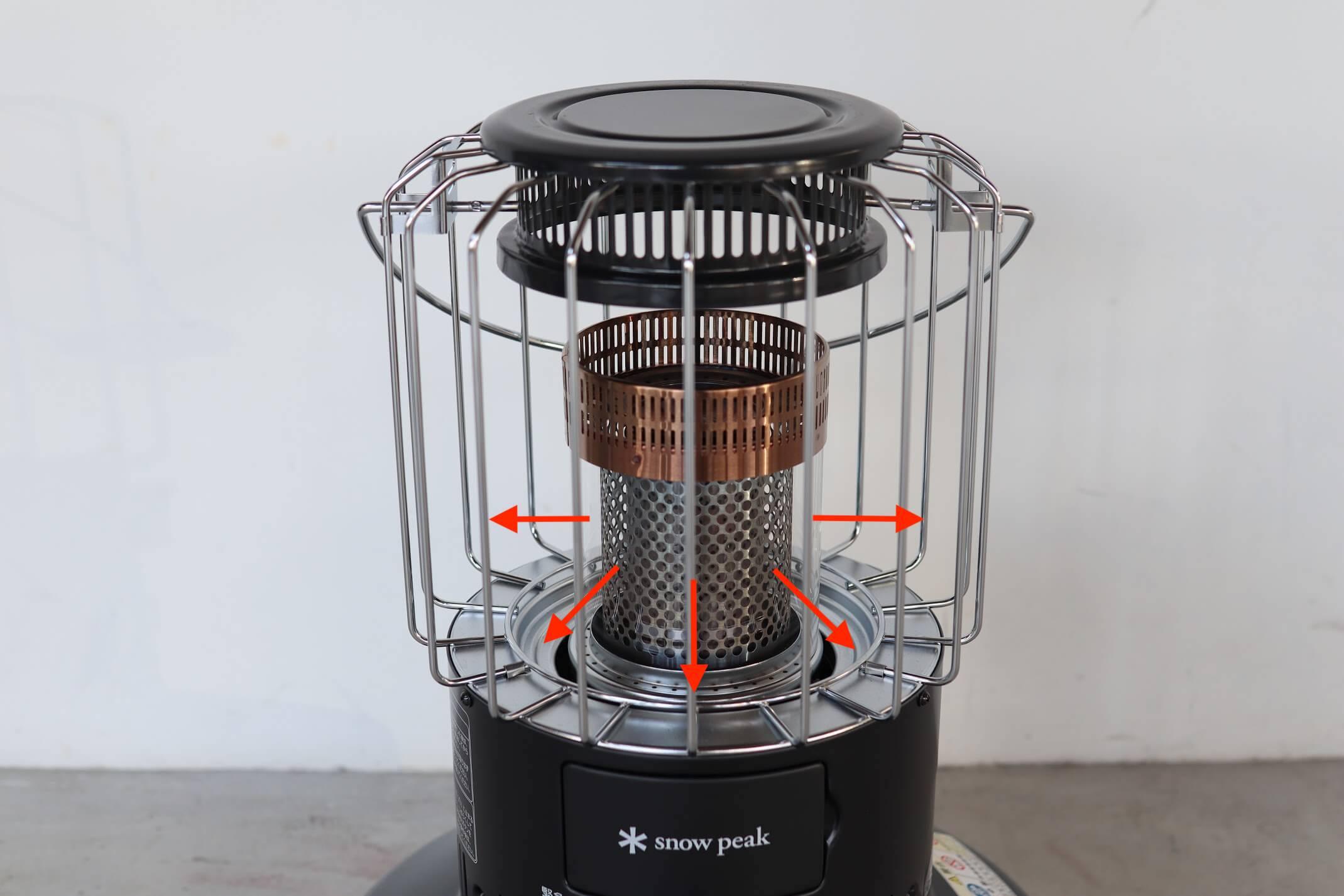 スノーピーク グローストーブ(KH-100BK) 輻射式