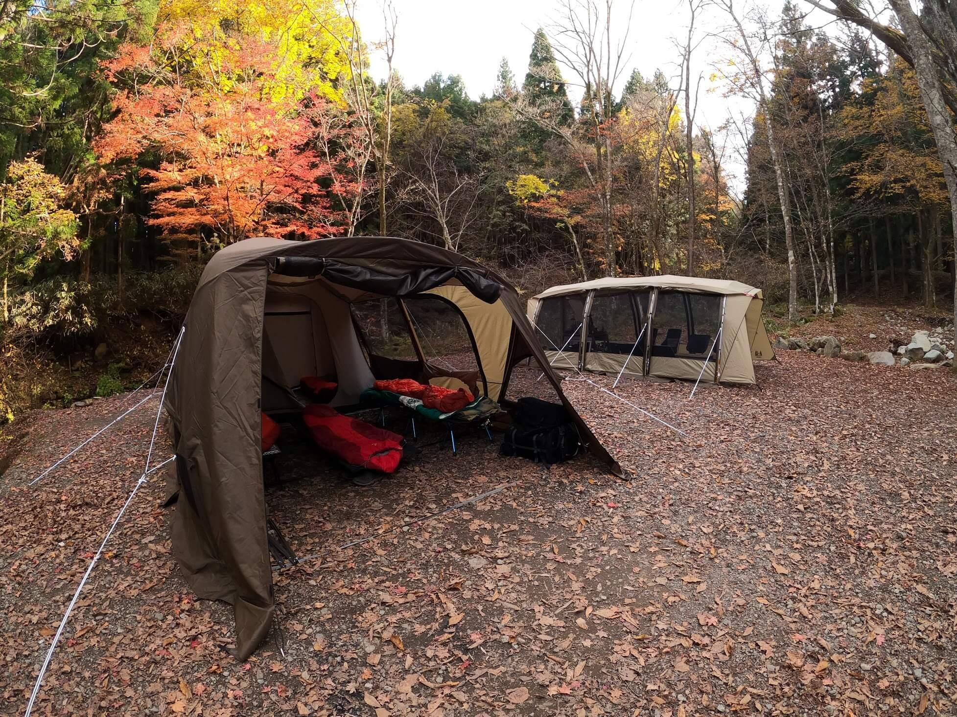 道志の森キャンプ場 テントサイト