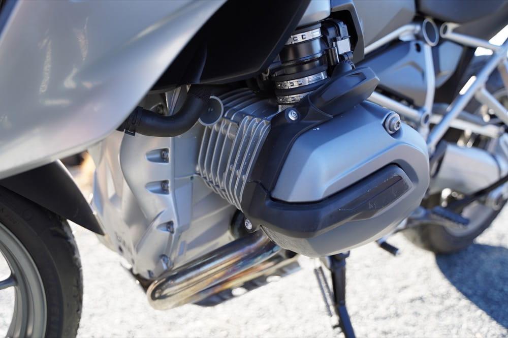 BMW R1200GS エンジンの排熱