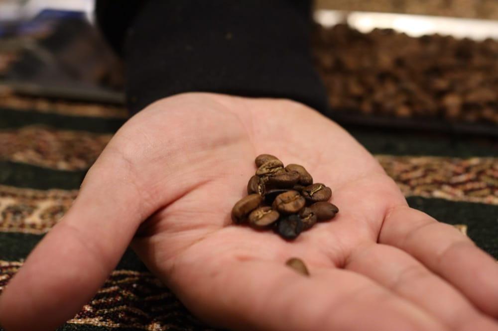KEY COFFEE 焙煎オンラインイベント 焙煎後 コーヒー豆 見た目