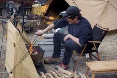 [キャンパー取材]HIDEOUT TCとアルパカストーブで楽しむ冬キャンプ。LITE 井澤 惇氏のキャンプスタイル。