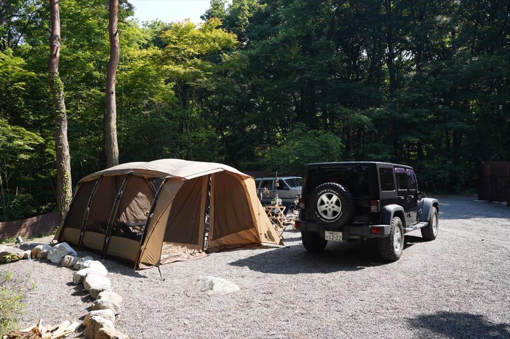 camp 24. 白州フィールド BLUE区画