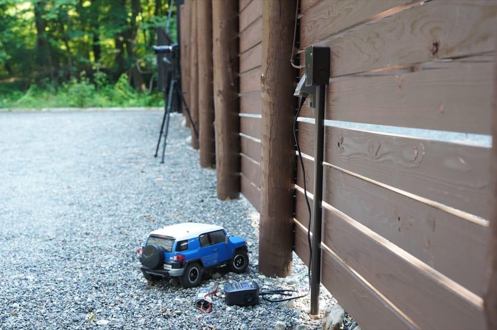 camp 24. 白州フィールド 電源
