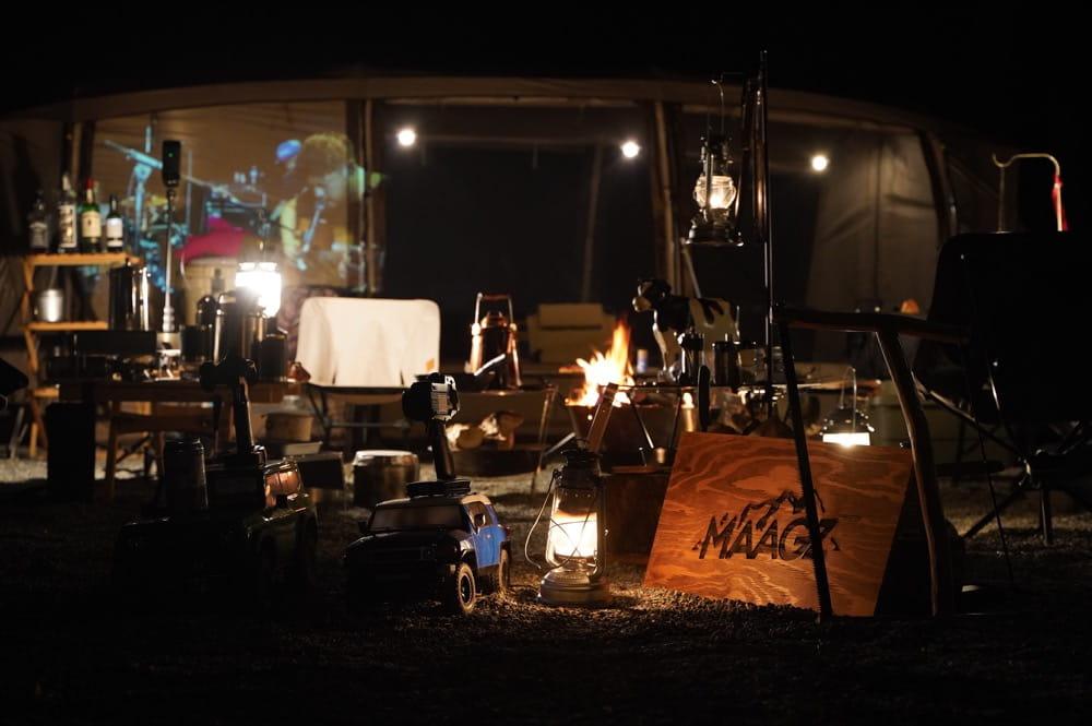 camp 24. 白州フィールド 電源利用例