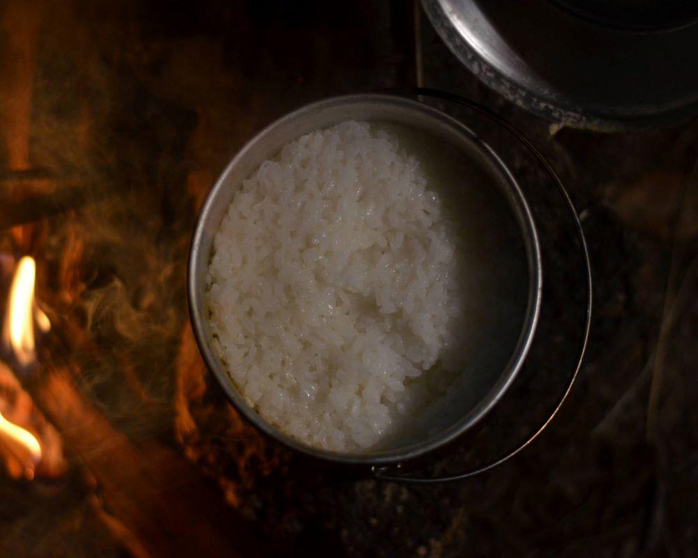 アルミ製クッカー 炊飯に向いている