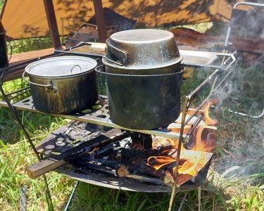 焚き火での調理にアルミ製のクッカーをおすすめする3つの理由。